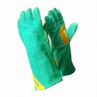 Wholesale Leather Safety Working Gloves, Used in Slippery Parts Handling  from china suppliers