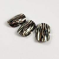 Wholesale Custom Sliver Metallic Fake Nails with Leopard Printing and Full Nail Stickers from china suppliers