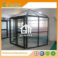Wholesale 320 X 283 X 275CM Dark Grey Color 10MM PC Hexagon Aluminum Greenhouse from china suppliers