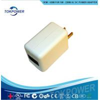 Wholesale 5W 5 Volt 1A  AC Universal USB Power Adapter Wall Charger Black ABS Materials from china suppliers