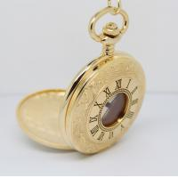 Wholesale 47.0MM Round brass Gold Pocket Watches , fashion hollow out watches from china suppliers
