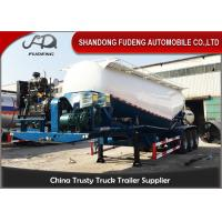 Wholesale High Strength Steel Bulk Cement Tanker Trailer , 30 Tons Cement Tank Semi Trailer from china suppliers