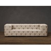 Wholesale Comfortable Tufted Linen Fabric Sofa with two sections accommodate a crowd from china suppliers
