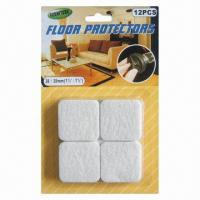 Wholesale Felt Adhesive Square-shaped Floor Protector, Furniture/Chair Leg Pads, 38 x 38mm Size from china suppliers