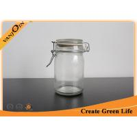 Wholesale Round 250ml Airtight Glass Food Storage Jars With Clip Top Glass Lid Reusable Eco - friendly from china suppliers