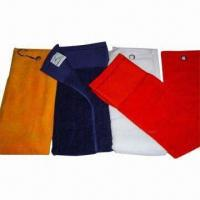 Wholesale Cotton Velour Golf/Sports Towels with Hanger, Ideal for Sports and Gifts from china suppliers