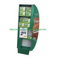 Quality Free Standing Green Cosmetics Cardboard Retail Display Glossy Lamination for sale
