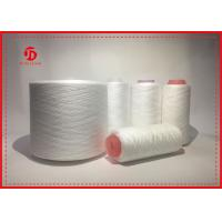 Quality Raw White Polyester Knitting Yarn , Virgin Dope Dyed Polyester Yarn for sale