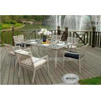 Quality Fashion Outdoor Patio Furniture 7 Piece , Garden Patio Table And Chairs for sale