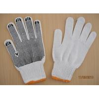 Wholesale 50g black PVC dotted working gloves Safety glove cotton knitted safety glove from china suppliers