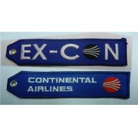 Wholesale Continental Airlines Ex-Con Fabric Embroidered Key Tags from china suppliers
