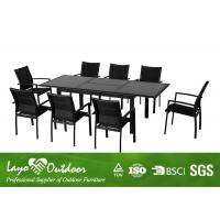 Quality 9 PCS Extension Table Extendable Dining Table Set Big Garden Furniture OEM for sale
