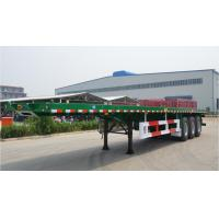 Wholesale Flat-bed Semi Trailer Truck 3 Axles 30-60Tons 13m for Container Loading from china suppliers