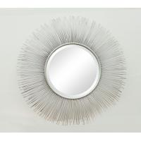 Wholesale Sunburst Metal Frame Wall  Mirror  with Metal lines100% Handmade in Silver from china suppliers