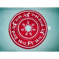 Wholesale Embroidered Snowflake pattern handmade christmas tree skirts decorations from china suppliers