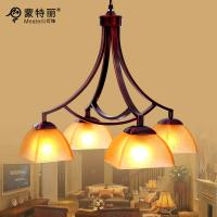 Wholesale 4 Light Pendant Wrought Iron Chandelier , Iron / Glass Retro and Traditional Chandeliers from china suppliers