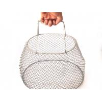 Buy cheap Factory Supply Egg Mesh Wire Kitchen stainless steel Basket With Carry Handles from wholesalers