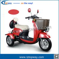 Quality electric mobility tricycle Front tyre 60/65-8 Rear tyre120/50-9 city drive for sale
