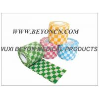 Wholesale Check Self - Adherent Custom Printed Athletic Tape Cohesie Wraps For Athletes from china suppliers