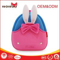 Wholesale Pink Rabbit Lightweight Children Travel Backpack With Pretty Bowknot / Grab Handle from china suppliers