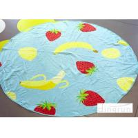 Quality 250Gsm Cute Beach Towels Eco-Friendly , Round Beach Hand Towels 140*140cm for sale