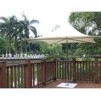 Wholesale Stainless Steel Iron Base Double Patio Umbrella Waterproof Middle Pole Deck Parasol from china suppliers