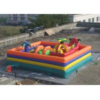 Wholesale Plato PVC Tarpaulin Childrens Inflatable Fun Park With Slide And Tunnel from china suppliers