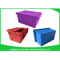 Wholesale Blue  PP Plastic Attached Lid Containers , plastic storage boxes with lids from china suppliers