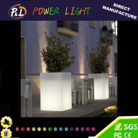 Wholesale LED Illuminated Plastic Garden Flowerpot from china suppliers