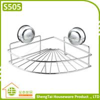 Wholesale Bathroom Accessories Double Sucker Triangle Bathroom Storage Shelf from china suppliers