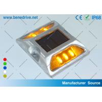 Wholesale Aluminum Road Stud Reflectors IP68 Solar Powered Active LED Marker Light from china suppliers
