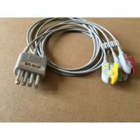 Wholesale nihon kohden TPU BR-903P 3lead wire cable with grabber,IEC for patient monitor from china suppliers