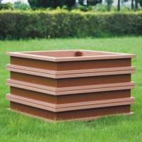 Wholesale large rectangular planters ecologically flower pots cheap flower pots of wpc material from china suppliers