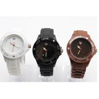Wholesale Brand New Love Top Fashion  Pointer Jelly Ice Silicone Watches with 3D Heart from china suppliers