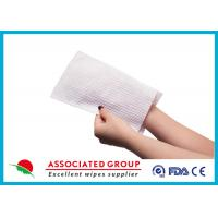 Buy cheap soft No Rinse Bathing Wipe Wet Wash Glove For Patients Cleansing Hand Size from wholesalers