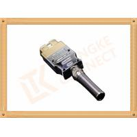 Wholesale Golden Plated Metal 16 Pin Obd Connector J1962 OBD Male Connecor Housing Strain Relief from china suppliers