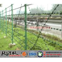 Wholesale PVC coated double strand barbed wire from china suppliers
