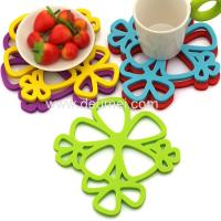 Wholesale High Quality New Design Beautiful Flower Hot Pod Mat Multifunctional Coaster from china suppliers