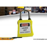 Wholesale OSHA Dust Proof Xenoy Padlock , Lightweight ABS Material Lockout Padlocks from china suppliers