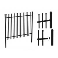 Wholesale Black Powder Coated Tubular Fence / Steel Fence / Wrought Iron Fence from china suppliers