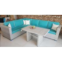 Wholesale 2017 Rattan Corner Sofa  Set L Shape Cushion Covered In Aluminium Frame Nice Price For Full Container from china suppliers