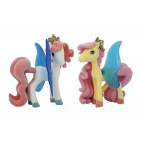 Quality Soft PVC Pony Plastic Figures Toys Attractive Golden Crown BSCI Approval for sale