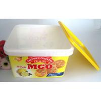 Quality 3600ml Disposable Salad Bowls PP Plastic Square Box With IML Label Printing Logo for sale