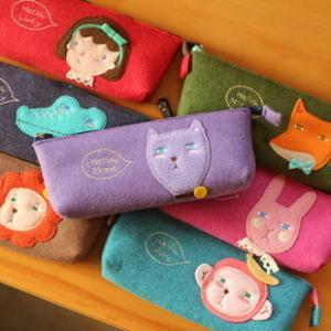 pink plush pencil case