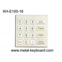 Wholesale Rugged Waterproof Access Control Keypad , Stainless Steel Numeric 16 Key Keypad from china suppliers
