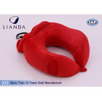 Wholesale U Shape Memory Foam Pillows / Multifunctional U shape Neck Pillow With Pouch from china suppliers