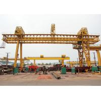 Wholesale Double Beam Truss Gantry Crane , Industrial A Frame Gantry Crane Rubber Tired from china suppliers