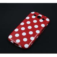 Wholesale Red & White Polka Dot Hard Back Leather Case For Samsung Galaxy Note S2 i9300 from china suppliers