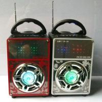 Wholesale LED Flash Color Mini Speaker Portable Go Travel (UK-38) from china suppliers