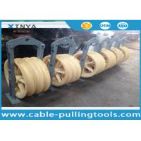 Wholesale Transmission Line Stringing Tools 3 Wheel Nylon Stringing Pulley Block for Twin Bundled Conductor from china suppliers